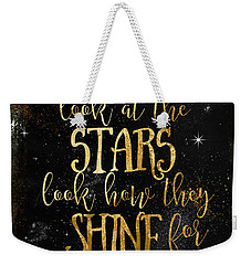 See How The Stars Shine Weekender Tote Bag