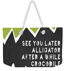 Weekender Tote Bag featuring the painting See You Later Alligator by Lisa Weedn