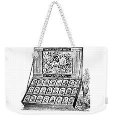 Weekender Tote Bag featuring the drawing Seed Bank by ReInVintaged