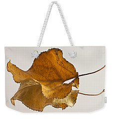 Seeing Double Autumn Leaf  Weekender Tote Bag by Sandra Foster