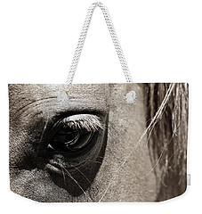 Stillness In The Eye Of A Horse Weekender Tote Bag by Marilyn Hunt