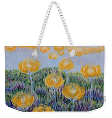 Weekender Tote Bag featuring the painting Seeing Through by Holly Carmichael
