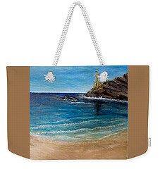 Seek A Source Of Light Built On A Firm Foundation To Guide You Safely To Shore Weekender Tote Bag by Kimberlee Baxter