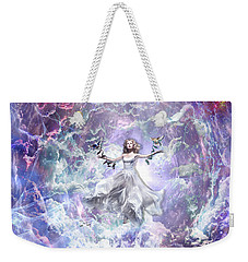Weekender Tote Bag featuring the digital art Seek And You Shall Find by Dolores Develde
