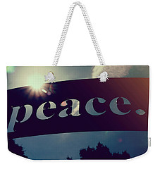 Weekender Tote Bag featuring the photograph Seek Peace And Pursue It by Joel Witmeyer