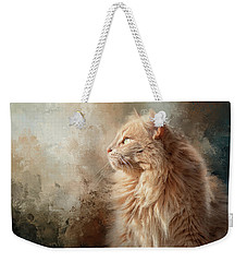 Seeking Spring Cat Art Weekender Tote Bag