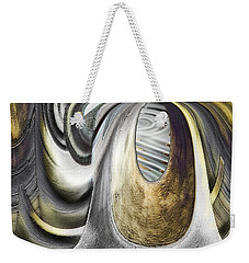 Weekender Tote Bag featuring the digital art Seen In Stone by Wendy J St Christopher