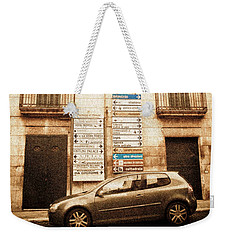 Segnali Stradali Weekender Tote Bag