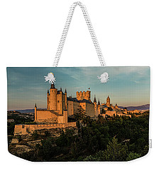 Segovia Alcazar And Cathedral Golden Hour Weekender Tote Bag
