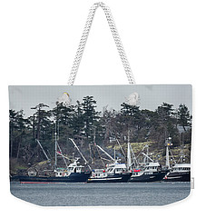 Weekender Tote Bag featuring the photograph Seiners In Nw Bay by Randy Hall