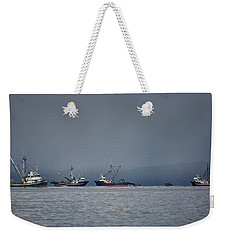 Weekender Tote Bag featuring the photograph Seiners Off Mistaken Island by Randy Hall
