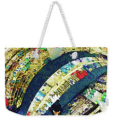 Weekender Tote Bag featuring the mixed media Self Portrait 1 by Tony Rubino