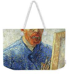 Weekender Tote Bag featuring the painting Self Portrait As An Artist by Van Gogh