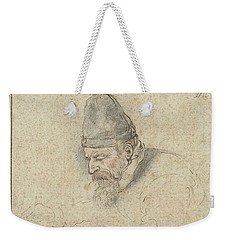 Weekender Tote Bag featuring the painting Self Portrait Of Henry Avercamp, Hendrick Avercamp, 1592-1629 by Artistic Panda