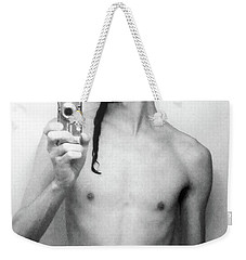 Weekender Tote Bag featuring the photograph Self Portrait Short Long by Shawn Dall