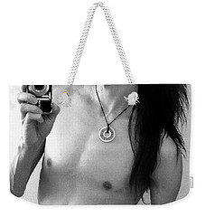 Self Portrait The Mirror Bw Weekender Tote Bag by Shawn Dall