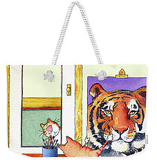 Self Portrait, Tiger Weekender Tote Bag