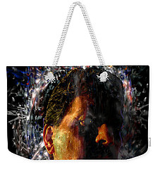 Weekender Tote Bag featuring the digital art Self Portrait With Aura by Reed Novotny