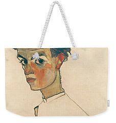 Self-portrait With Striped Shirt Weekender Tote Bag