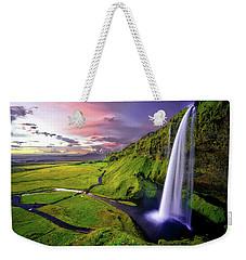 Seljalandsfoss Waterfall Weekender Tote Bag