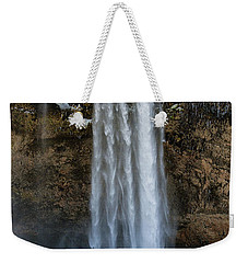 Weekender Tote Bag featuring the photograph Seljalandsfoss Waterfall Iceland Europe by Matthias Hauser