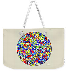 Semi Abstract Paintings Button Weekender Tote Bag