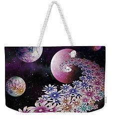 Weekender Tote Bag featuring the digital art Seminal Flowers by Rosa Cobos