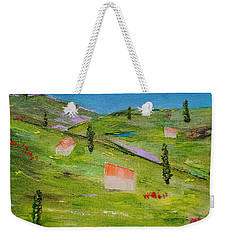 Weekender Tote Bag featuring the painting Semplicita by Judith Rhue