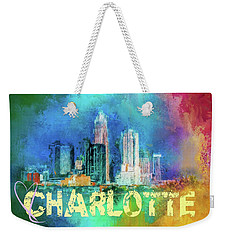 Sending Love To Charlotte Weekender Tote Bag