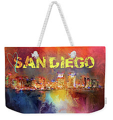Sending Love To San Diego Weekender Tote Bag