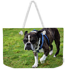 Leroy The Senior Bulldog Weekender Tote Bag