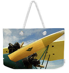 Weekender Tote Bag featuring the photograph Sensenich Bros. Propeller Blade by Trey Foerster