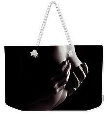 Sensual Erotic Closeup Of Man Hands On Nude Woman Breast Weekender Tote Bag