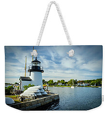 Sentinels Of The Sea Lighthouse Weekender Tote Bag