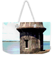 Weekender Tote Bag featuring the photograph Sentry Box In El Morro by The Art of Alice Terrill