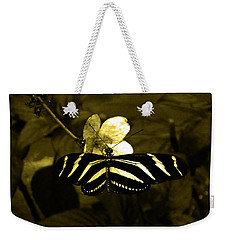 Sepia Butterfly And Flower Weekender Tote Bag