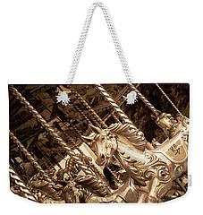 Sepia Carousel Horse Weekender Tote Bag
