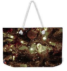 Sepia Christmas Tree Weekender Tote Bag