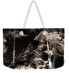 Weekender Tote Bag featuring the photograph Sepia Forest by Betsy Zimmerli