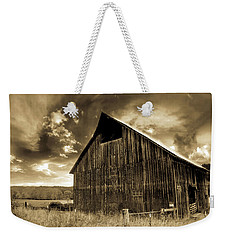 Sepia Historic Barn Weekender Tote Bag