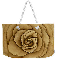 Weekender Tote Bag featuring the painting Sepia Rose by Kelly Mills