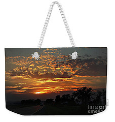 Weekender Tote Bag featuring the photograph Sept Sunset by Yumi Johnson