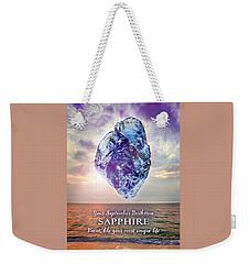 September Birthstone Sapphire Weekender Tote Bag