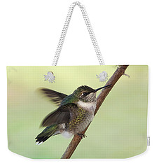 September Hummingbird Weekender Tote Bag