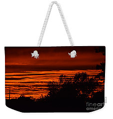 September Kansas Sunset Weekender Tote Bag by Mark McReynolds
