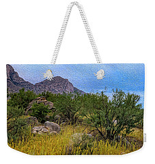Weekender Tote Bag featuring the photograph September Oasis No.2 by Mark Myhaver