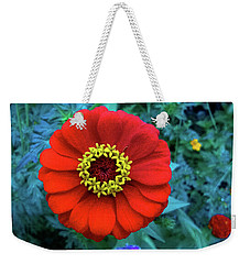Weekender Tote Bag featuring the photograph September Red Beauty by Roger Bester