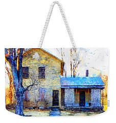September's Song - Yellow Farmhouse  Weekender Tote Bag by Janine Riley