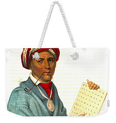 Weekender Tote Bag featuring the photograph Sequoyah 1838 by Padre Art