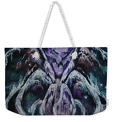 Weekender Tote Bag featuring the painting Seraph by Cheryl Pettigrew